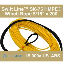 "All Gear Inc. Swift Line™ Winch Rope 5/16"" x 200' , with 1 Eye, Coated 15,300# ABS"