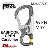 Petzl Petzl, Carabiner, M043AA00 EASHOOK OPEN, with gated connection, 25KN