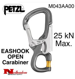Petzl Carabiner EASHOOK OPEN, with gated connection, 25KN