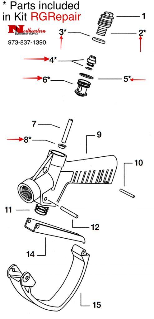 NEA Feeder, Trigger Valve Repair Kit