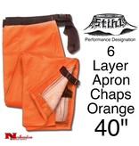 STIHL® Performance 6 Layer Apron Chaps, Orange
