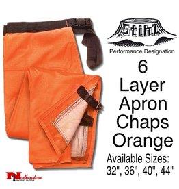 STIHL® Performance 6 Layer Apron Chaps, Orange