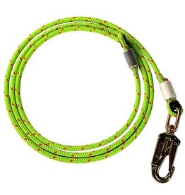 "Rope Logic Swaged Wirecore Flipline 1/2"" diameter, Steel swivel snap, 8' long."