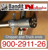 Bandit® Parts Coiled Cord 6-prong round to 6-prong round 12' Max.  900-2911-26