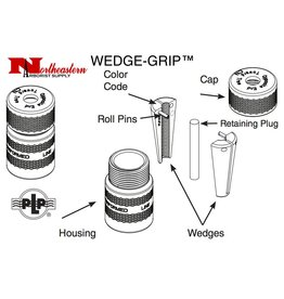 "Preformed Line Products WEDGE-GRIP™ Dead-end 1/4"" - Yellow"