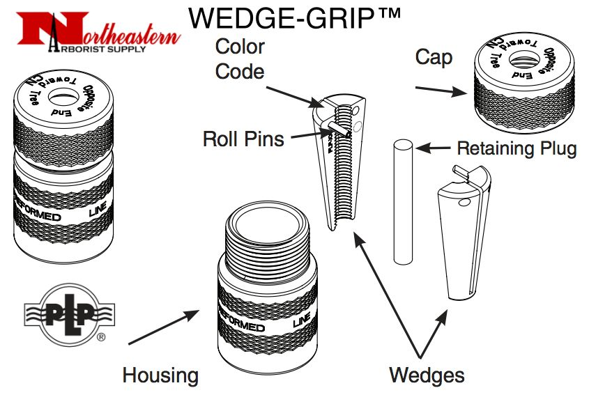 """Preformed Line Products WEDGE-GRIP™ Dead-end 1/4"""" - Yellow"""