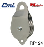 "CMI Pulley 5/8"" Two 4"" Aluminum Sheaves, Bushing, and Stainless Steel Axle. 25,000lbs"