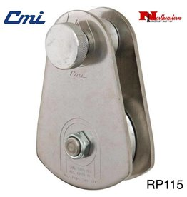 "CMI Block 3/4"" Stainless Steel Sideplates, 4"" Aluminum  Sheave, Bushing, and Stainless Steel Axle 40,000 MBS"