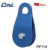 "CMI Block, 5/8"", 2""Blue Anodized Aluminum sideplates, sheave, Needle Bearing, and Steel axle. 7,500lbs. MBS"