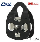"""CMI Pulley 5/8"""" Black Anodized Aluminum Sideplates, 2+3/8"""" Aluminum Sheave, Bushing, and Stainless Steel Axle, 6000lbs MBS,"""