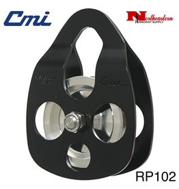 "CMI Pulley 5/8"" Black Anodized Aluminum Sideplates, 2+3/8"" Aluminum Sheave, Bushing, and Stainless Steel Axle, 6000lbs MBS"