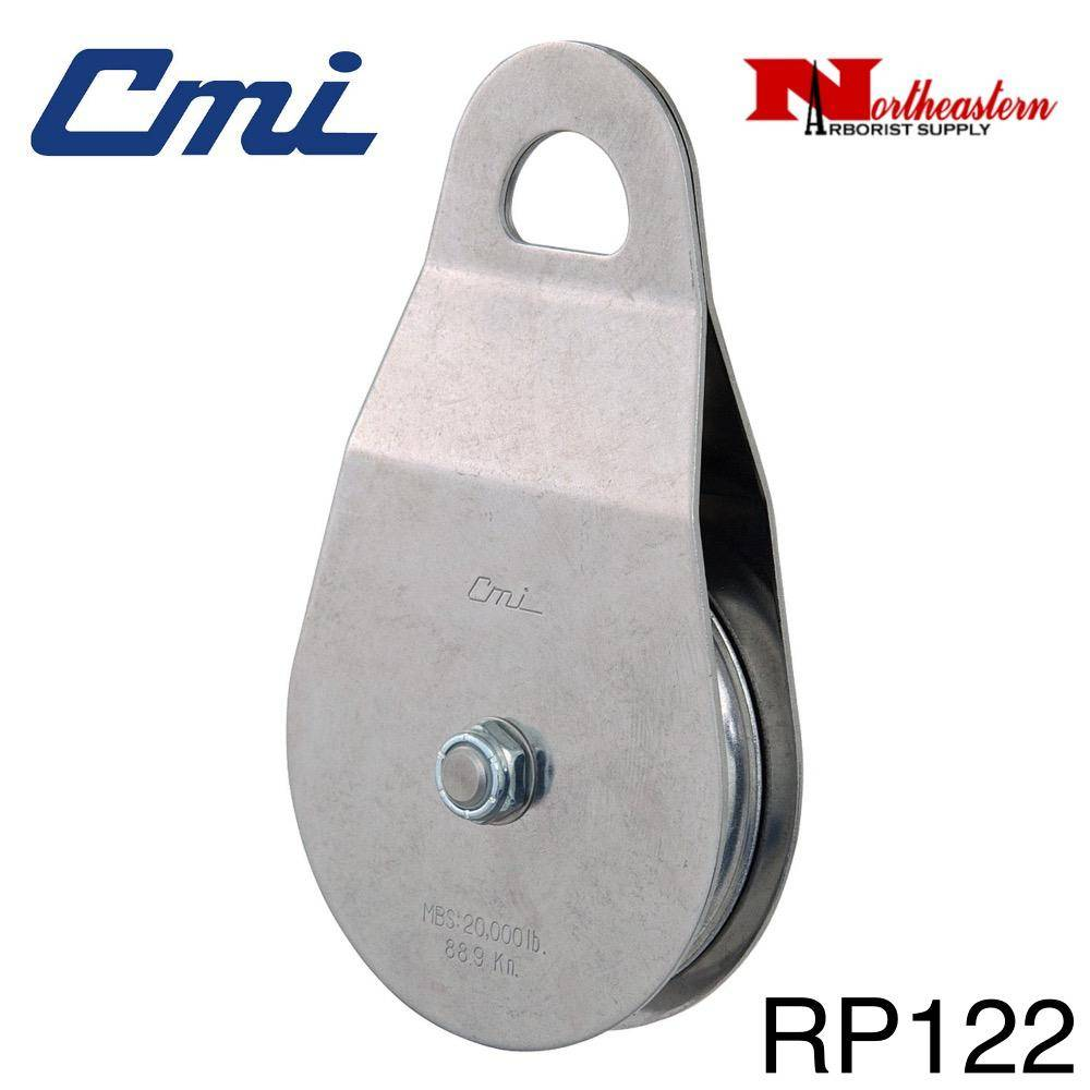 "CMI Pulley 5/8"" Rope, 4"" Aluminum Sheave, 20,000MBS"