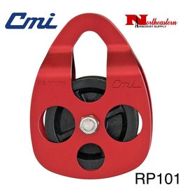 "CMI Pulley 5/8'' Red Anodized Aluminum Sideplates, 2+3/8"" Glass-filled Celcon Sheave, and Stainless Steel Axle, 6,000MBS"