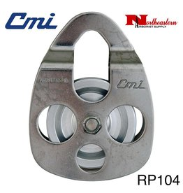 "CMI Pulley 5/8"" Stainless Steel Sideplates, 2+3/8"" Aluminum Sheave, Needle Bearing, and Stainless Steel Axle 8500lbs MBS"