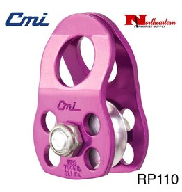 "CMI Pulley Micro/Rescue 1/2"" Purple Anodized Aluminum Sideplates, 1+1/4"" Aluminum Sheave, Bushing, and Aluminum Axle. 7,000# MBS"