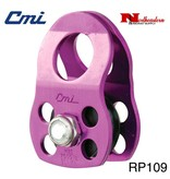 "CMI Pulley Micro 1/2"" Purple Anodized Aluminum Sideplates, 1+1/4"" Black Plastic Sheave,Bushing, and Aluminum Axle 7,000# MBS"