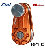 "CMI Block for 3/4"" Rope, 3"" Aluminum Sheave, Bronze Bushing and Stainless Steel Axle 51000lbs MBS,"