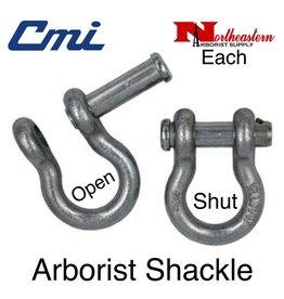 "CMI Arborist Shackle 5/8"", Zinc Plated, 6500lbs WLL"