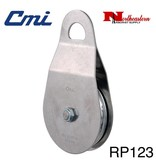 """CMI Pulley 5/8"""" Stainless Steel Side Plates, 4"""" Aluminum Sheave, Needle Bearing, and Stainless Steel Axle 20000lbs MBS, RP123"""