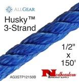 "All Gear Inc. Husky .5™ 1/2"" ax 150' 3-Strand Polyester Rigging Line, Blue"
