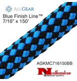 "All Gear Inc. Blue Finish Line™ 7/16"" x 150' 32-Strand Kernmantle Composite Climbing Line"