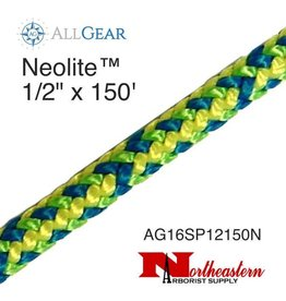 """All Gear Inc. Neolite™  1/2"""" x 150' with 1 EYE 16-Strand Braided Polyester * 7,500lbs ABS"""