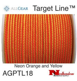 All Gear Inc. Target Line™ 1/8' x 200' Polyethylene Slick Throw Line Neon Orange and Yellow