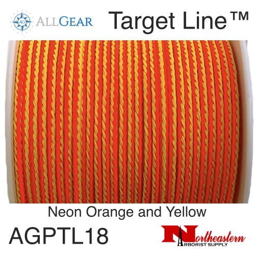 All Gear Inc. Target Line™ 1/8' x 200' Polyethylene Slick Throw Line Neon Orange and Yellow