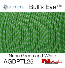 All Gear Inc. Bull's Eye™ Slick Arborist Throw Line, 2.5mm x 180' Neon Green Polyethylene, and White Dyneema®