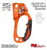 CT QUICK'UP + Right-Hand Light Alloy Ascender