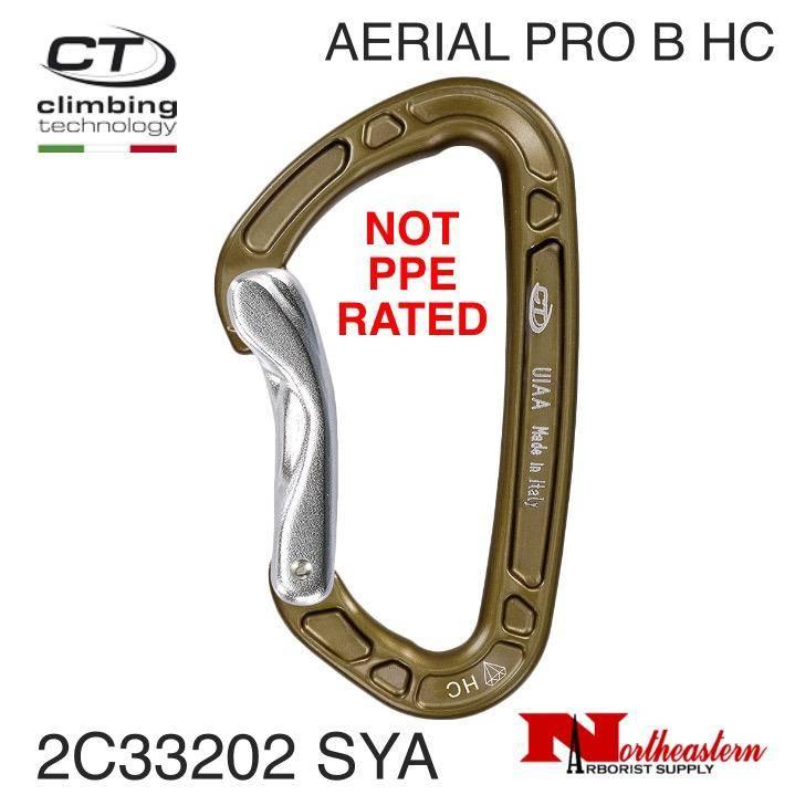 CT Carabiner, Aerial Pro B-HC, Non Locking Aluminum, Not PPE