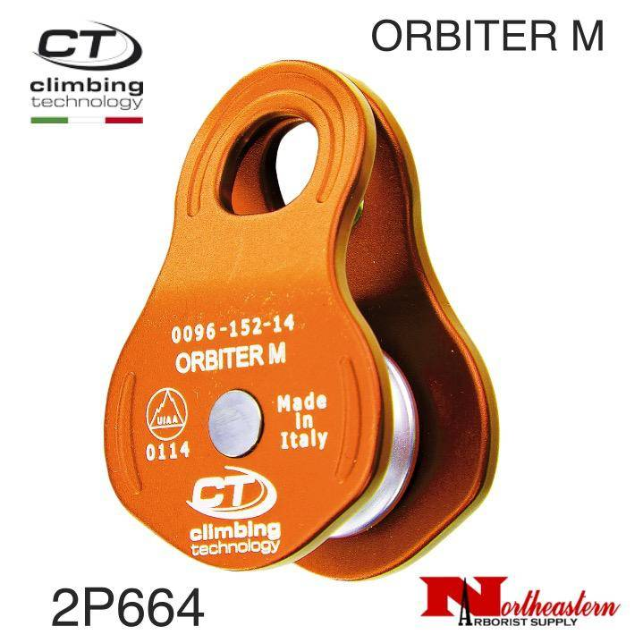 CT Pulley, ORBITER M, Aluminum Side PlateS Micropulley 30kN