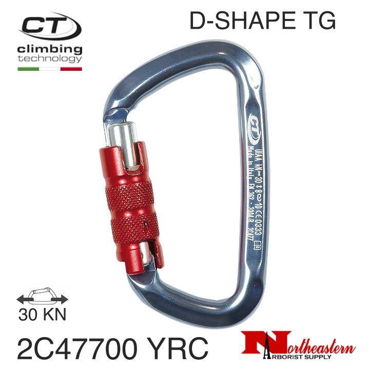 CT Carabiner, D-SHAPE TG Standard Aluminum, 30kN