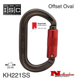 ISC Carabiner, Offset Supersafe Oval, 25 kN