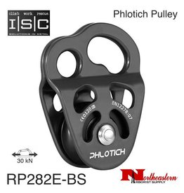 "ISC Pulley Phlotich Gray with Bushings 30kN 1/2"" Rope Max."