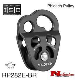 "ISC Pulley Phlotich Gray with Bearings 30kN 1/2"" Rope Max."