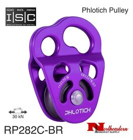 "ISC Pulley Phlotich Purple with Bearings 30kN 1/2"" Rope Max."