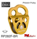 """ISC Pulley Phlotich Gold with Bearings 30kN 1/2"""" Rope Max."""