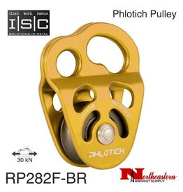"ISC Pulley Phlotich Gold with Bearings 30kN 1/2"" Rope Max."