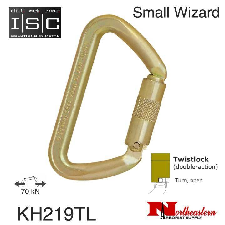 ISC Carabiner, SMALL IRON WIZARD 70kn MBS Twistlock