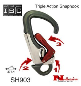 ISC Snaphook, Triple Action, 27 kN