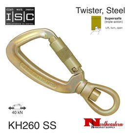 ISC Carabiner, Swivel Eye with Supersafe Gate, 40kN MBS