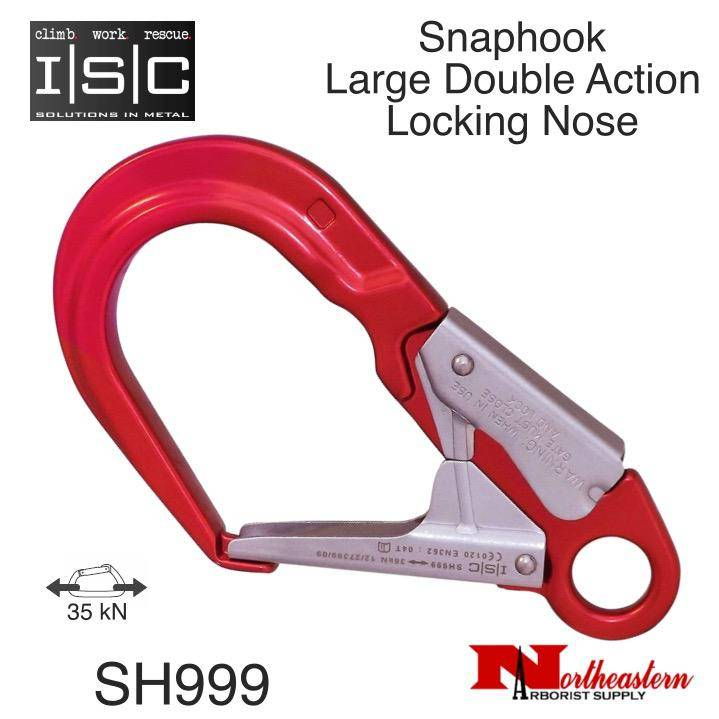 ISC Snaphook, Large Double Action with Locking Nose, 35kN MBS