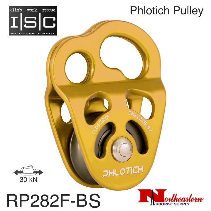"ISC Pulley Phlotich Gold with Bushing 30kN 1/2"" Rope Max."