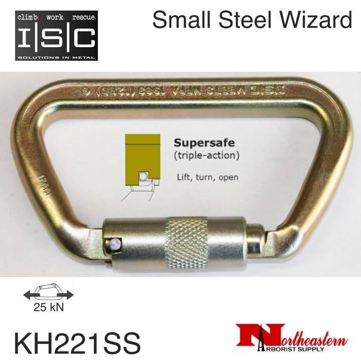 ISC Carabiner, Small Steel Wizard, Supersafe, 70kn MBS