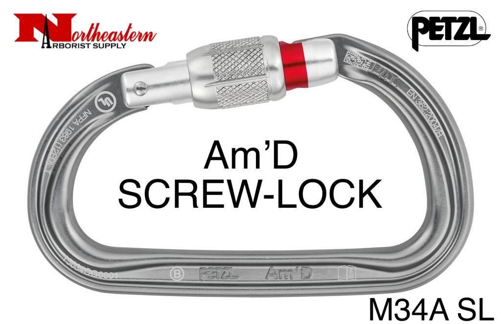Petzl Carabiner, Am'D Lightweight asymmetric, Screw-Lock, 27kN Max.