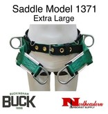 Buckingham Saddle 1371 Wide Back with leg straps