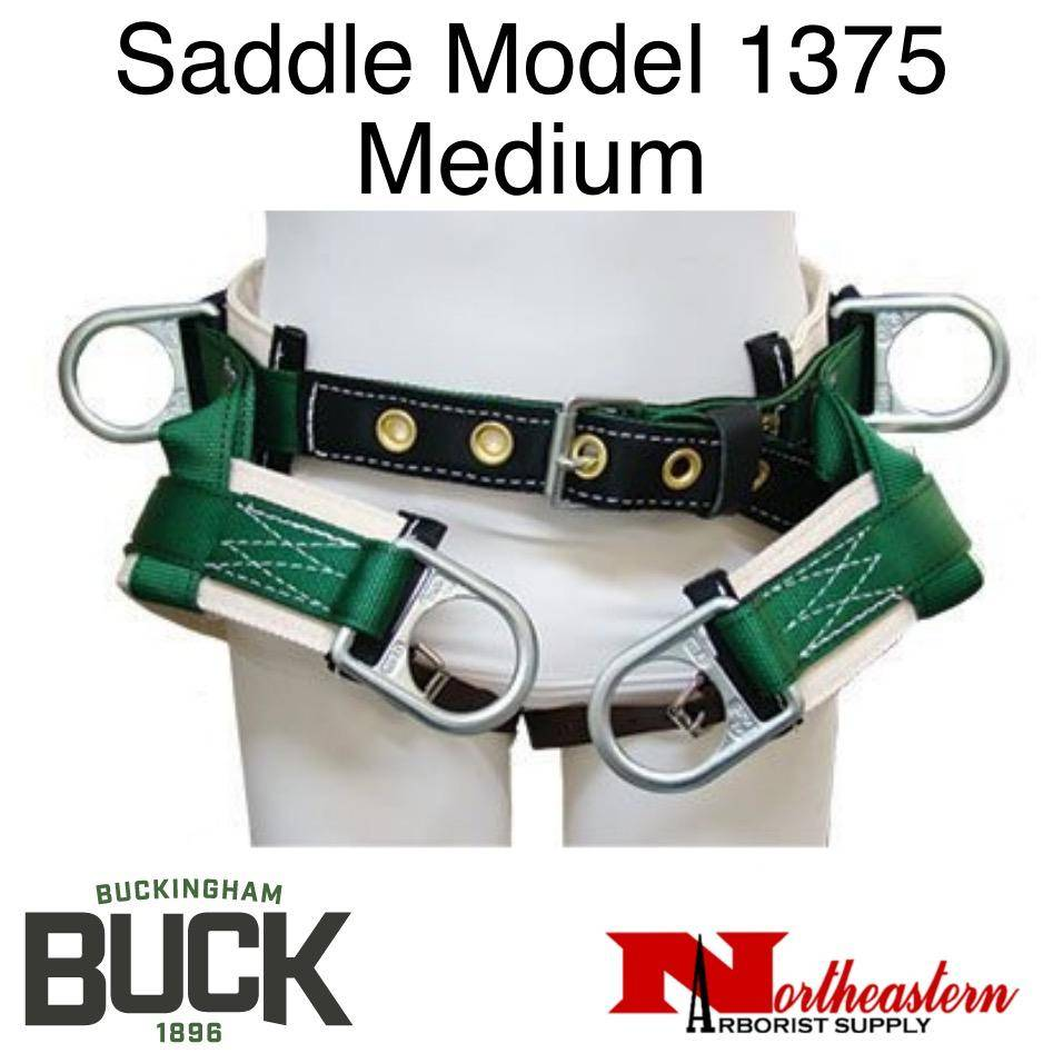Buckingham Saddle 1375 Four Double Dee, Thick Cotton Back