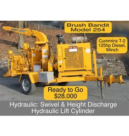 """Bandit® Model 254 TOWABLE 15"""" Disk Style Hand-Feed Chipper 125hp Cummins T-2 Diesel Engine"""