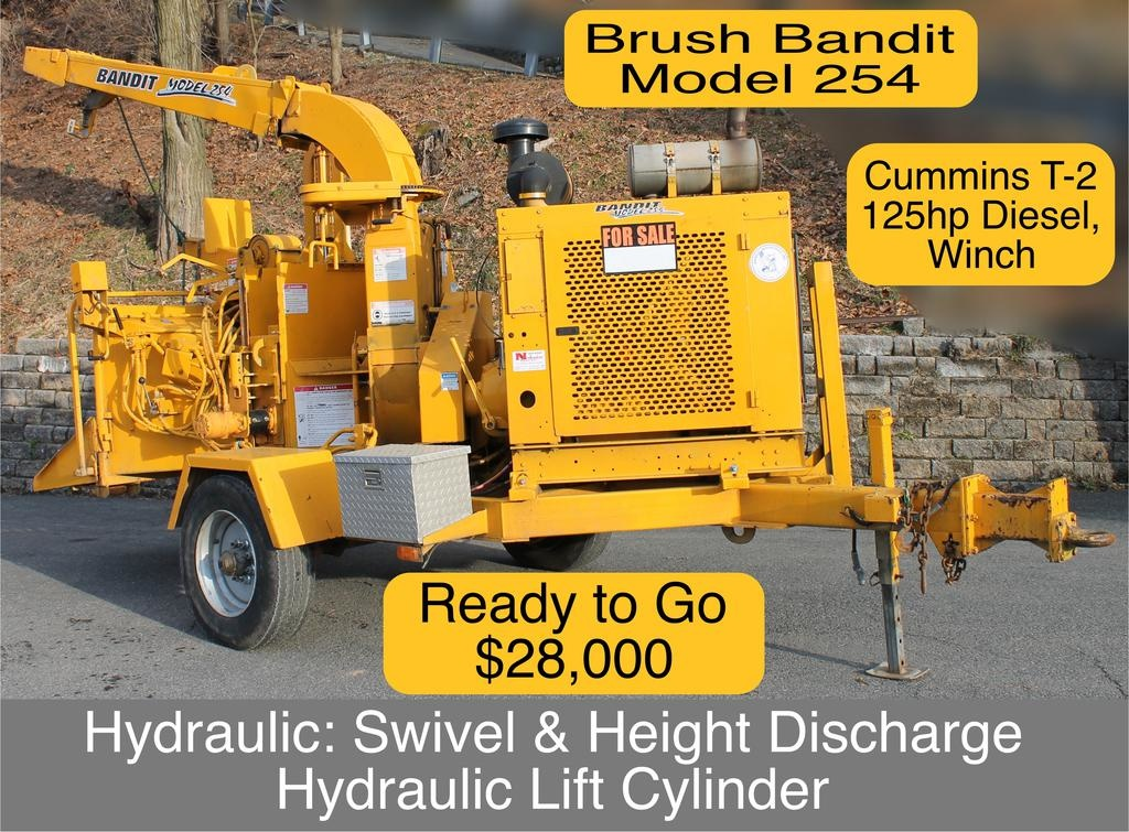 "Bandit® Model 254 TOWABLE 15"" Disk Style Hand-Feed Chipper 125hp Cummins T-2 Diesel Engine"